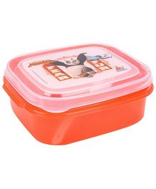 Kung Fu Panda Lunch Box With Fork - Orange