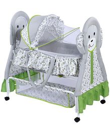 Baby Cradle Grey And Green - Kitty Design