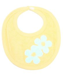 Child World Bib Yellow - Floral Print