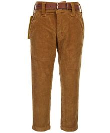 Ruff Corduroy Pant With Belt - Solid Colour