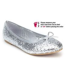 Kittens Slip On Belly Shoes - Silver