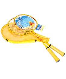 Disney Winnie The Pooh Badminton Set With Cover - Yellow