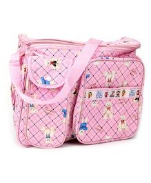 Duck Mother Bag Pink - Bear Print