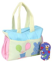 Duck Mother Bag With Bib And Bottle Cover - Multicolour
