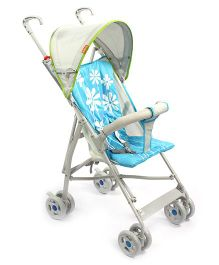 Light Weight Stroller Floral Print - Blue and Green