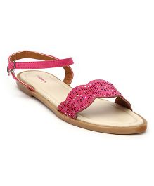 Kittens Shoes Sandals With Buckle Strap - Fuchsia