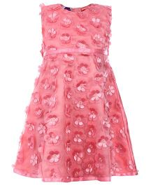 Cupcake Celebrations Sleeveless Party Dress - Floral Motifs