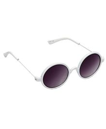 Spiky Round Sunglasses - White And Black