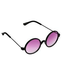 Spiky Round Sunglasses - Black And Violet