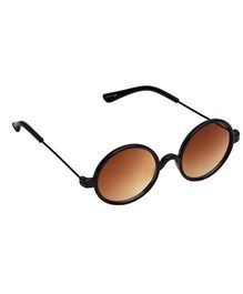 Spiky Round Sunglasses - Black And Brown