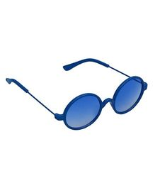 Spiky Round Sunglasses - Blue