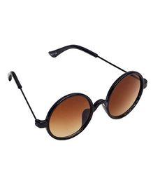 Spiky Round Sunglasses - Brown