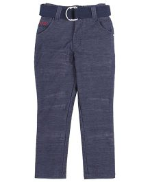 Noddy Full Length Pant With Belt - Navy Blue