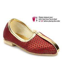 Ethniks Neu Ron Traditional Mojari Shoes - Dual Color