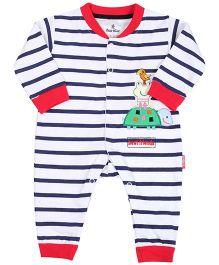 Child World Romper Full Sleeves - Stripes Pattern