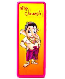Buddyz Shree Ganesha 2D Pogo Pencil Box - Pink And Yellow