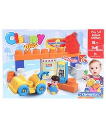 Clemmy Plus Play Set Gas Station - 15 Blocks