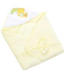 Tinycare Hooded Deluxe Towel Umbrella Print - Yellow
