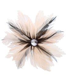 Stol'n Feather Design Hair Clip - Cream