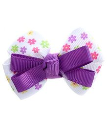 Stol'n Hair Clip Bow Design - Purple And White