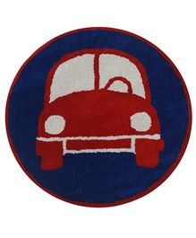 Fly Frog Room Mat Red And Blue - Car