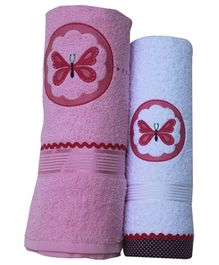 Fly Frog Towel Butterfly Design - Set of 2