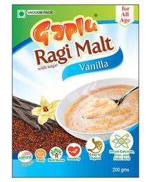 Gaplu Ragi Malt Vanilla Flavour - 200 gm