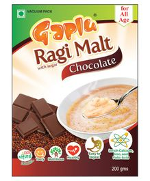Gaplu Ragi Malt Chocolate Flavour - 200 gm