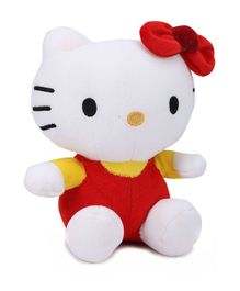 Dimpy Stuff Hello Kitty Soft Toy Red and Yellow - Height 21 cm