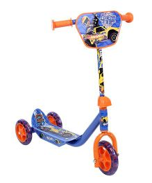 Hotwheels Three Wheel Scooter - Blue And Orange