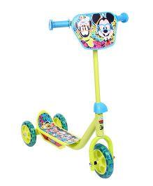 Disney Three Wheel Scooter Green - Mickey Mouse