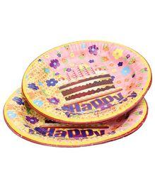 Karmallys Paper Plates Cake Print - Pack of 10