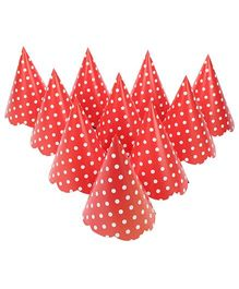 Karmallys Party Caps Polka Dots - Pack of 10