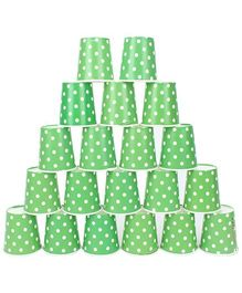 Karmallys Paper Cups Polka Dot Green - Pack of 20