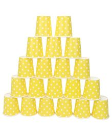 Karmallys Paper Cups Polka Dot Yellow - Pack of 20