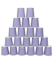 Karmallys Printed Party Cups Purple - Pack of 20