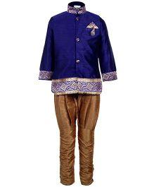 Babyhug Full Sleeves Kurta and Jodhpuri Style Pyjama - Brooch
