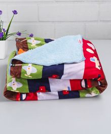 Babyhug Sherin & Poly Wool Blanket Multi Color - Vehicle Print