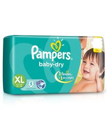 Pampers Baby Dry Diaper Extra Large - 5 Pieces