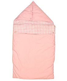 Taftan European Brand Pram Bag Checks Pink