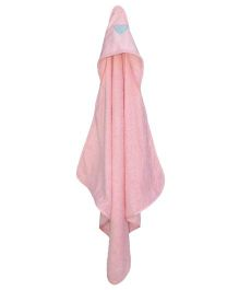 Taftan European Brand Hooded Terry Towel Heart Pink