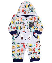 FS Mini Klub Hooded Romper - Vehicle Print