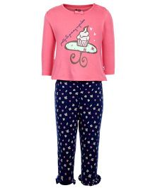 FS Mini Klub Full Sleeves Night Suit - Cupcake Print