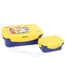 Chhota Bheem Lunch Box With Spoon And Fork - Assorted