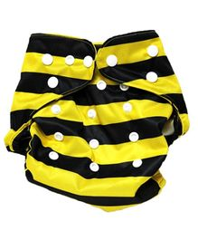 BumChum Reusable Diaper With Two Inserts - Busy Bee