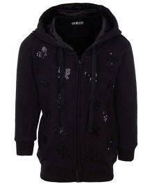 Gini & Jony Full Sleeves Hooded Jacket - Sequin Work