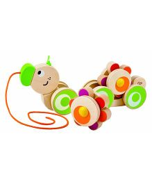 Hape Wooden Walk-A-Long Caterpillar - Multi Colour