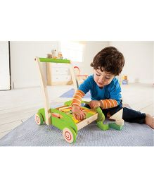 Hape Wooden Block And Roll - Multi Colour