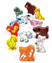 Hape Wooden Farm Animals - Multi Colour