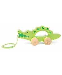 Hape Wooden Pull Along Alligator - Green